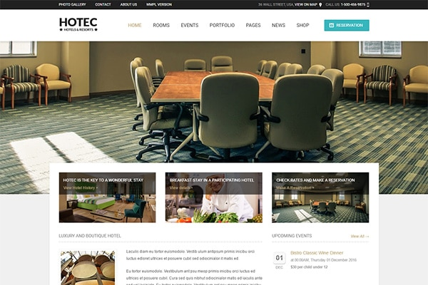 Hotec - Responsive Hotel, Spa & Resort WP Theme